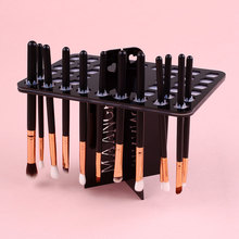 Make Up Cosmetic Foundation Brushes Dryer 42 Holes Shelf Organizer Holder Stand