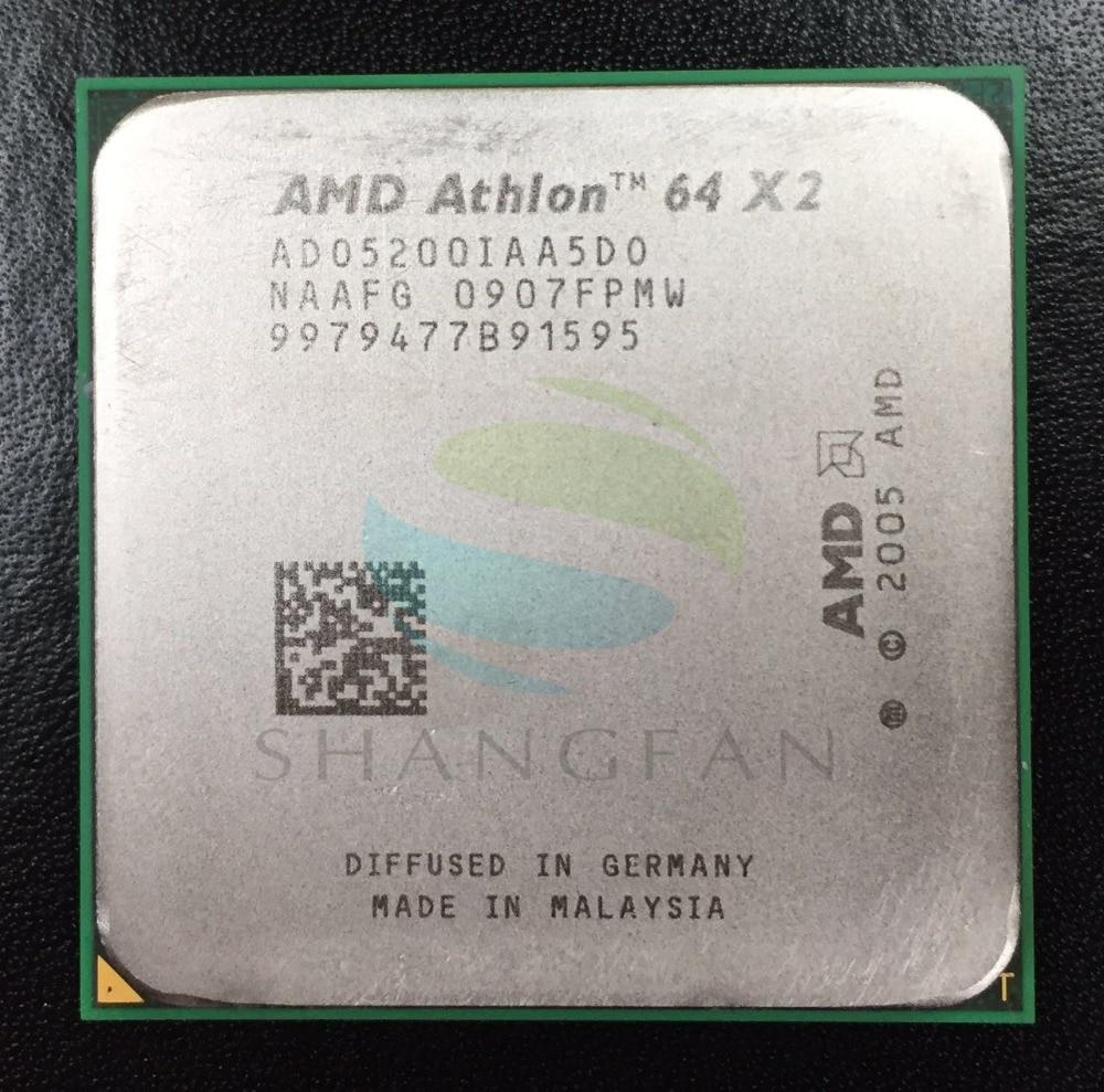AMD Athlon  X2 5200+ 2.7GHz Dual-Core CPU  ADO5200IAA5DO ADO5200IAA5DU ADO5200IAA5DD Processor Socket AM2 940pin