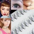 Hot! mulheres de Maquiagem Preta 8/10/12mm Cílios Falsos Cluster DIY Eye Lashes Extensão