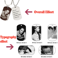 Custom Army Card Pendant Necklace Handmade Bag Mail Please Note Need To Design And Provide The