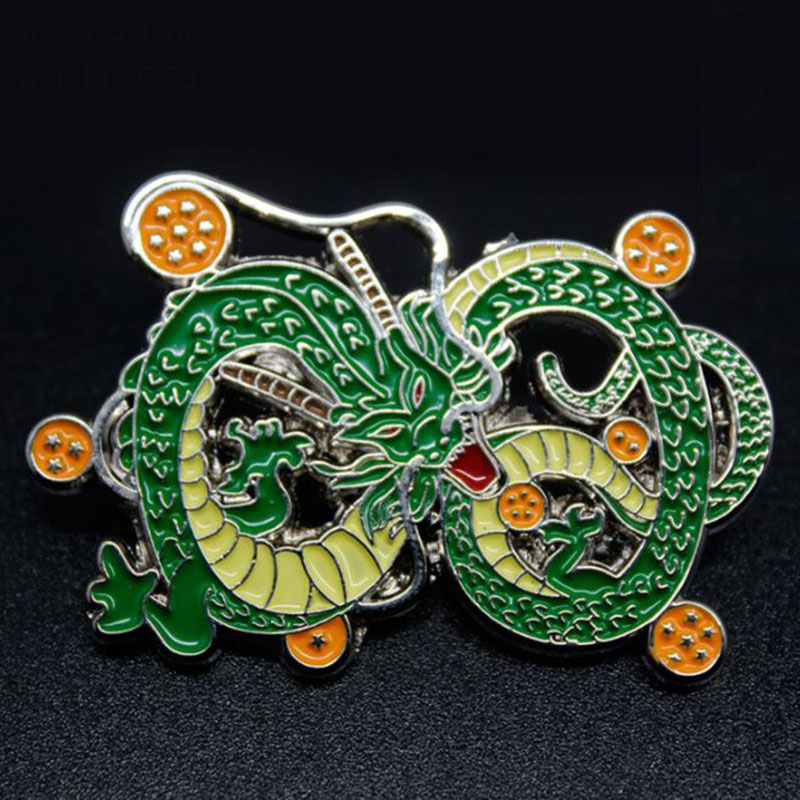 1 Pc Anime Dragon Ball Z Green Dragon Shenron Pins Badges For Anime Lover Costume Access ...