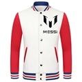 2016 World Cup Lionel Mess thick velvet baseball uniform camiseta barcelonae 2016 college jacket boys survetement bodybuilding