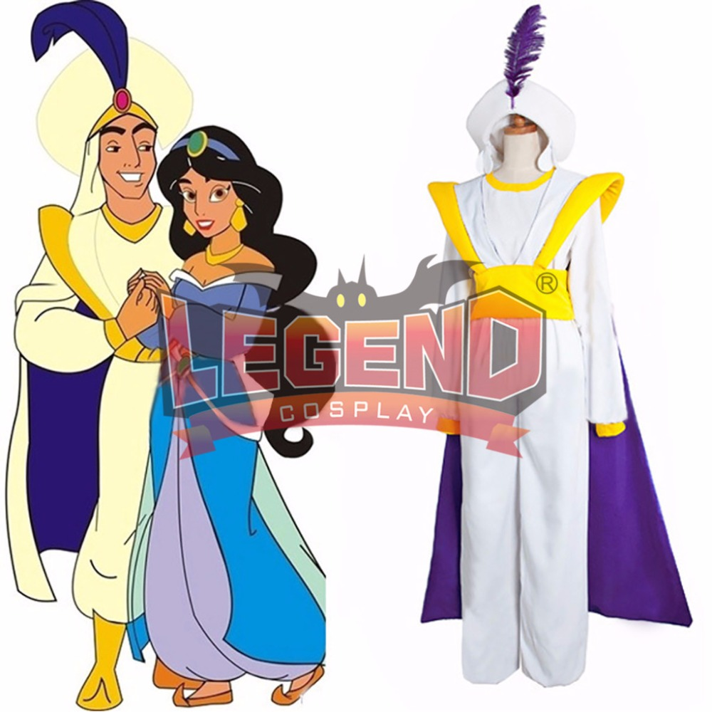 Aladdin Lamp Prince Aladdin Prince Cosplay Costume outfit with cape hat