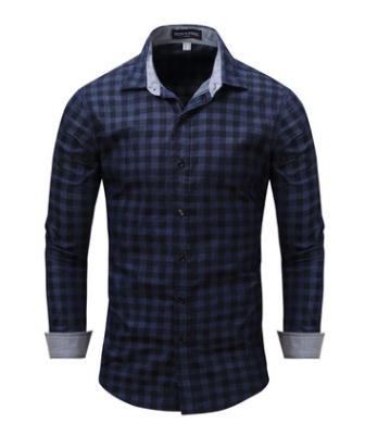 Men's Clothing Considerate Long Sleeved Male Denim Plaid Shirts Large Size Spring Autumn Loose Shirt Europe Size Mens Brand Clothings Fredd Marshall J2480 A Complete Range Of Specifications