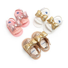 Baby Shoes Soft Leather Hot Baby Toddler Infant Walking Crawling Pram Shoes Non Slip Soles Butterfly 0-1 Year Baby Shoes(China)