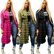 Женские осенние зимние куртки с длинным рукавом модные сетчатые Лоскутные пальто на молнии