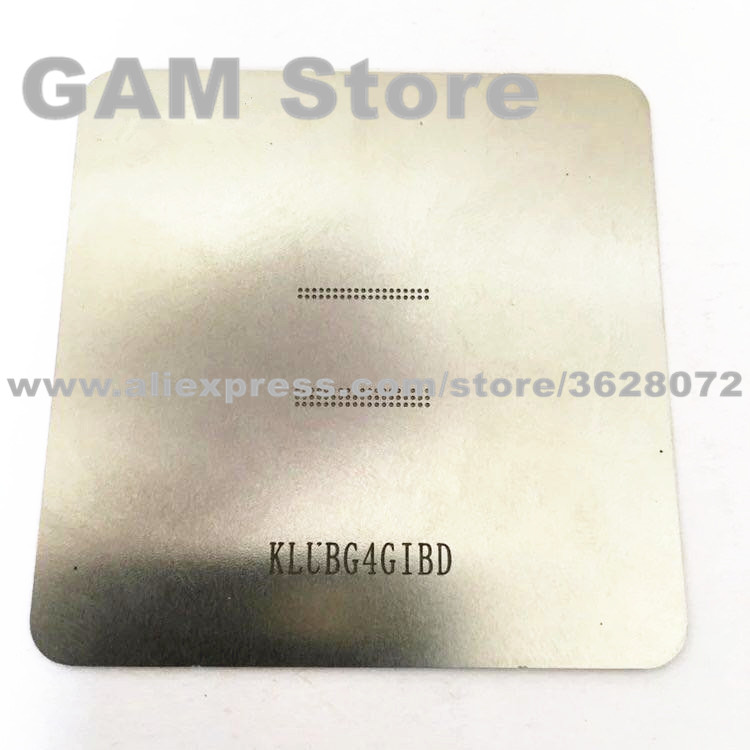 US $0 83 8% OFF|KLUBG4GIBD BGA Stencil For Samsung S6 eMMC Reballing IC  Pins BGA Direct Heating Template-in Welding Fluxes from Tools on
