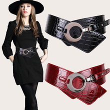 2016 new autumn and winter fashion wild black leather wide belt female, with a down jacket coat jacket for woman leather girdle