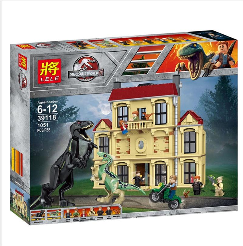 the jurassic world 2 jurassic world Dinosaur Indoraptor Rampage At Lockwood Estate Building Blocks Toy Animals