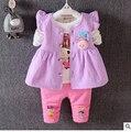 2016 осенью детская одежда Корейской версии прекрасных свежих девочек костюм из трех частей женского хлопок 429