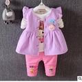 2016 autumn children's clothing Korean version of the lovely fresh girl children suit three-piece female cotton 429