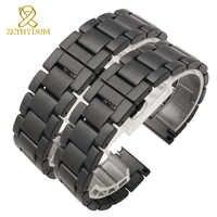 Matte Keramik armband armband 16 18 20mm sandähnliche uhr strap band weiß schwarz uhr gürtel zubehör nicht verblassen