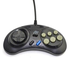 Image 3 - وحدة تحكم في الألعاب بسلك SEGA لوحة ألعاب 16 بت لوضع محرك سيجا ميجا سريع البطء
