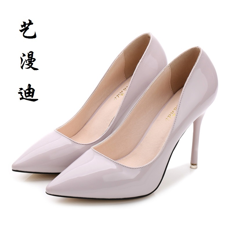 2017 Small Size 31-40 Patent Leather Sexy Thin High Heels Women Pumps Ladies Shoes Woman Chaussure Femme Talon Mariage 32 33 34 100