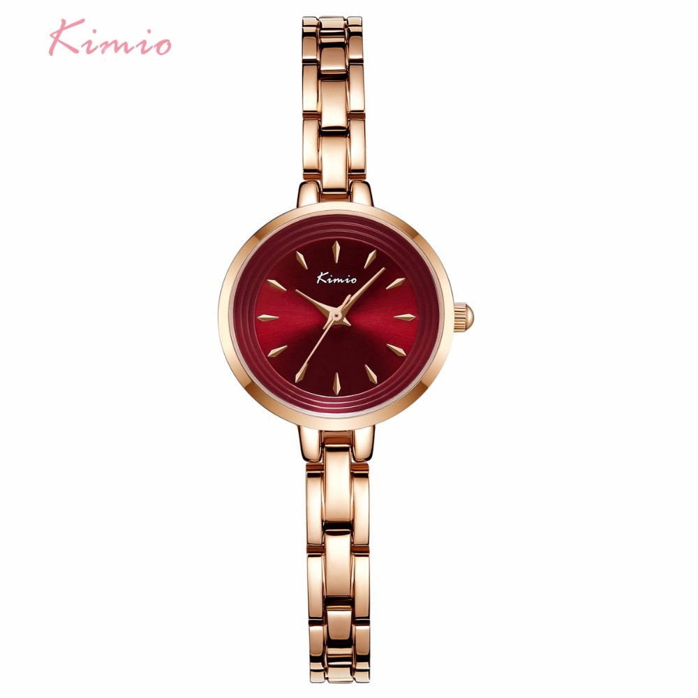 new steel feminino gold com arrival quartz ladies relogio watch zibbor stainless rose women bracelet kimio watches chain maroon