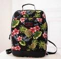 Design da marca de Alta Qualidade Coruja Impresso Mochila de Lona Retro Folhas de Abacaxi Flor Adolescente Escola Travel Bag Laptop Bag SJ261