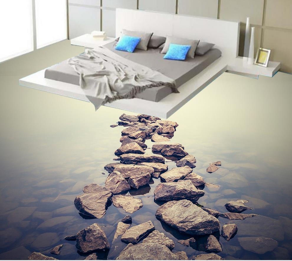 Waterproof wallpaper for bathroom wall 3d water stone - Waterproof floor paint for bathrooms ...