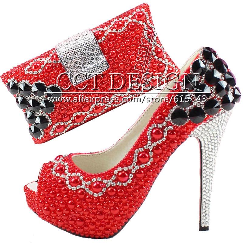 más vendido patrones de moda estilo de moda de 2019 Algo zapatos rojos de la boda personalizada brillante ...