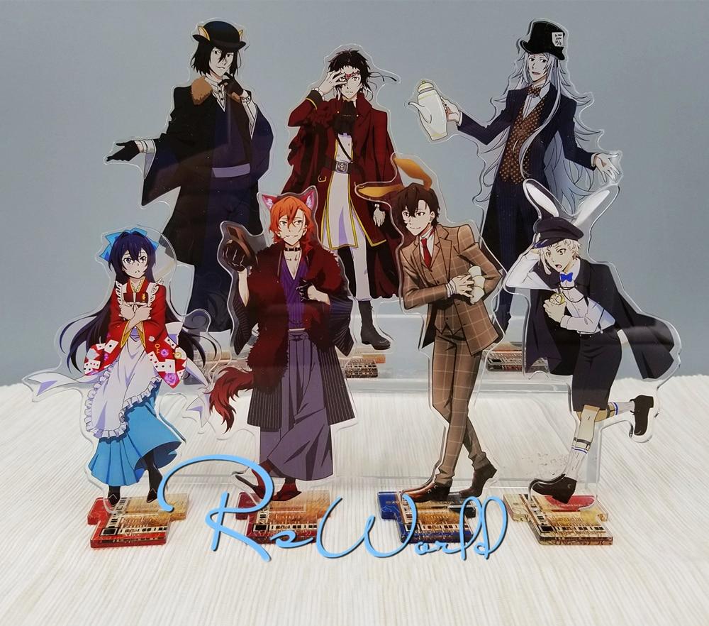 Bungo Stray Dogs Anime Dead Apple Princess Cafe Nakahara Chuya Dazai Osamu Fyodor. D Rabbit Fox Poker Acrylic Stand