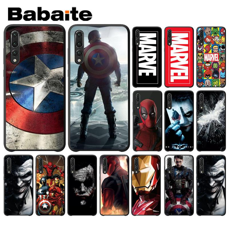 Babaite <font><b>Marvel</b></font> The Avengers Jorker Dead Pool Soft <font><b>Phone</b></font> <font><b>Case</b></font> for Huawei P9 P10 Plus Mate9 10 Mate10 Lite P20 Pro Honor10 View10 image