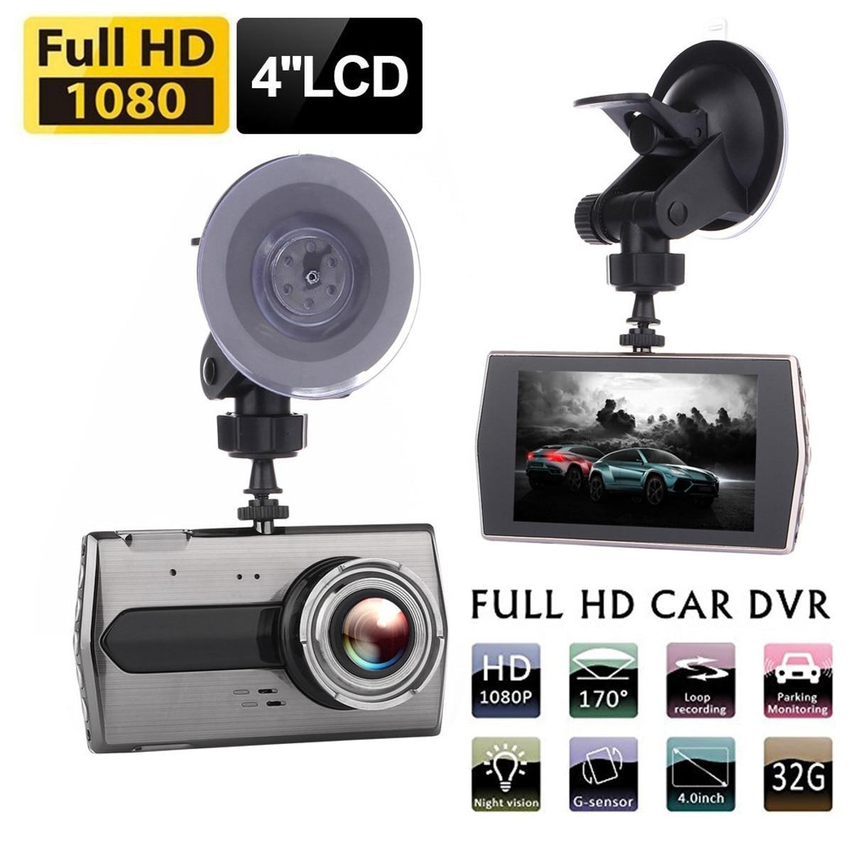 4 inch Dual Lens Camera HD 1080P Car Vehicle blackbox DVR Video Dash Cam Front Rear Recorder H506 IPS