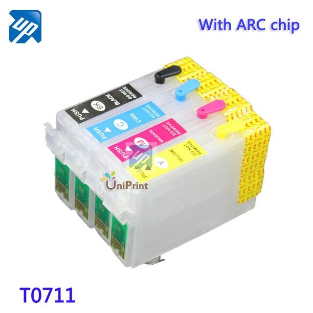 T0711 10sets refillable ink cartridges for epson S20/SX100/SX105/SX109/SX200/SX205/SX209 B40W  big discount