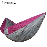 Large Size Double Hammock For Backpacking Camping Swing Hammock Outdoor Garden Relax Sleeping Hanging Bed