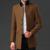 Hee grand 2017 homens de negócios inverno misturas de lã de moda patchwork mandarim collar cashmere trench coats mwn229