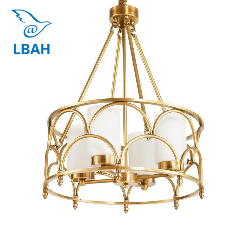 Contemporary American creative full copper lamp glass designer example room sitting room bedroom chandeliers 3 4 6 8 head american pastoral sitting room dining room study bedroom chandeliers cloth art act the role ofing