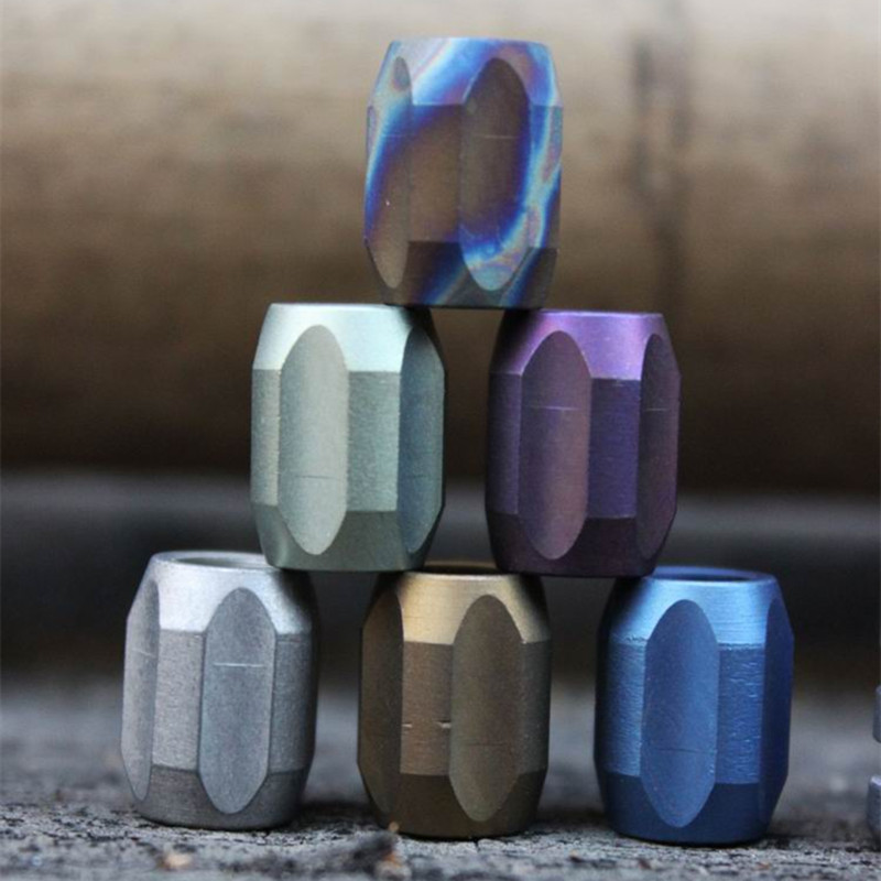 A Colorful Series Titanium Alloy Knife Beads Pendant Outdoor Knife Lanyard Pure Titanium Camping Gear Survival EDC