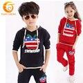 Fashion Kids Clothes Long Hoodies Baby Girls Kids Sport Suit Clothing Sets Vetement Enfant Children Girls Clothing Sets 3T-10T