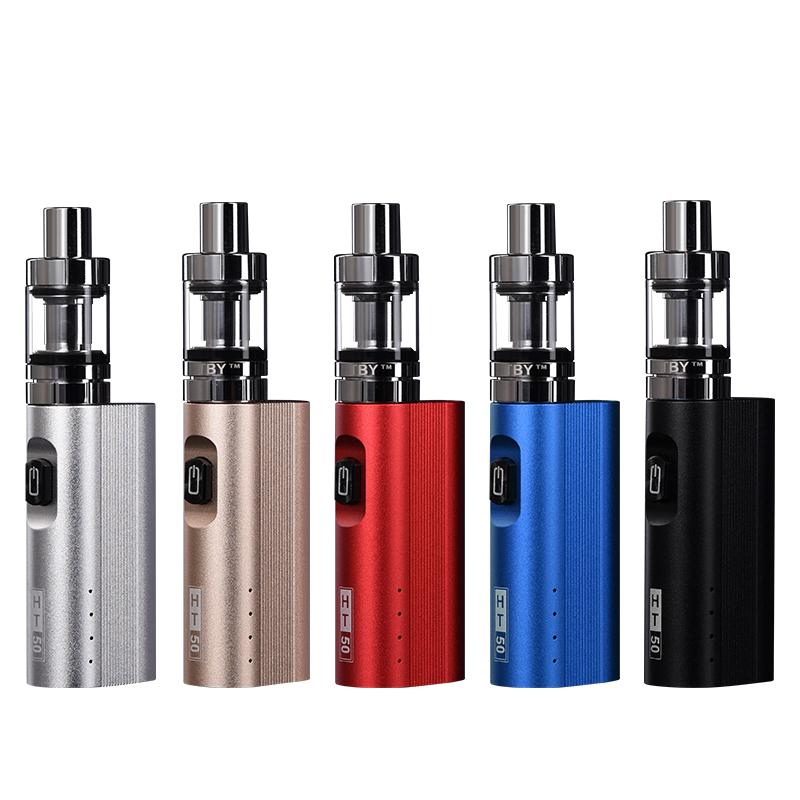 , 20PCS Original HT 50 electronic cigarette kit 2200mah 50w mod box vape pen vaporizer  510 thread 2.0ML tank  e cigarette kit