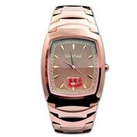 Fashion Quartz Watch Tungsten Steel Square Rose Gold Men's 2018 New Moment Sport Wrist Clock Top Brand Luxury A14 Z