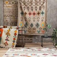 collalily Kilim Morocco handmade Carpet geometric Bohemia Indian Rug plaid striped Modern Bohemia design Nordic style