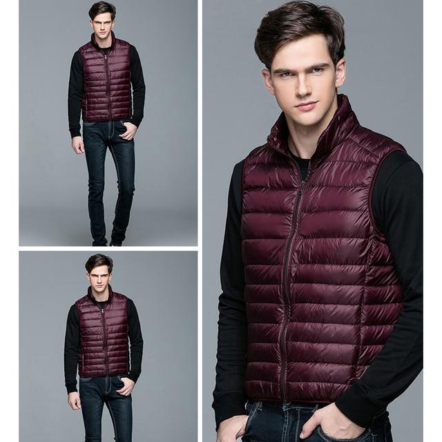 2020 New Men's Winter Coat 90% White Duck Down Vest Portable Ultra Light Sleeveless Jacket Portable Waistcoat for Men 5