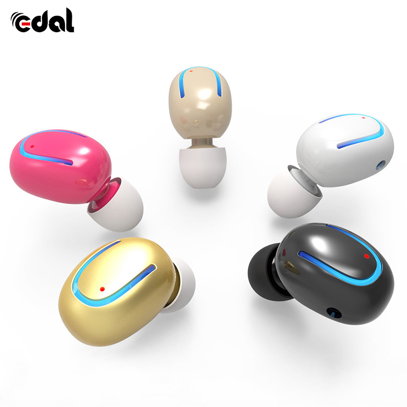 EDAL Bluetooth Headphones Wireless earphone Mini Single headset Earpiece Smallest Earbud Earphone for iPhone 7 plus For Android smallest music phone calls hands free stereo bluetooth mini earphone headset for iphone 7 6 6 plus 5s 5c galaxy s5 note 3 4