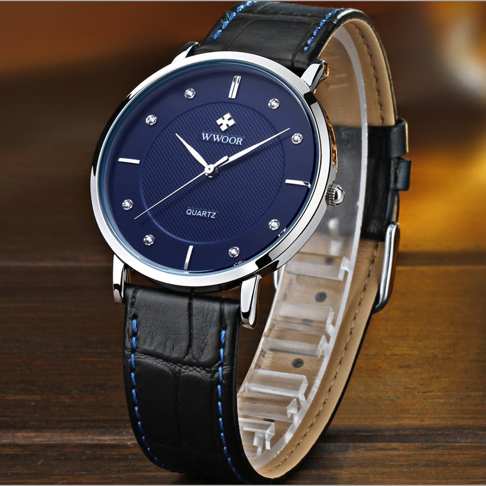 Men Watches Casual Watch Fashion Luxury Brand Ultra Thin Full Genuine Leather Waterproof Men Wristwatches Clock Male Sport Watch ultra thin watch male student korean version of the simple fashion trend fashion watch waterproof leather watch men s watch quar