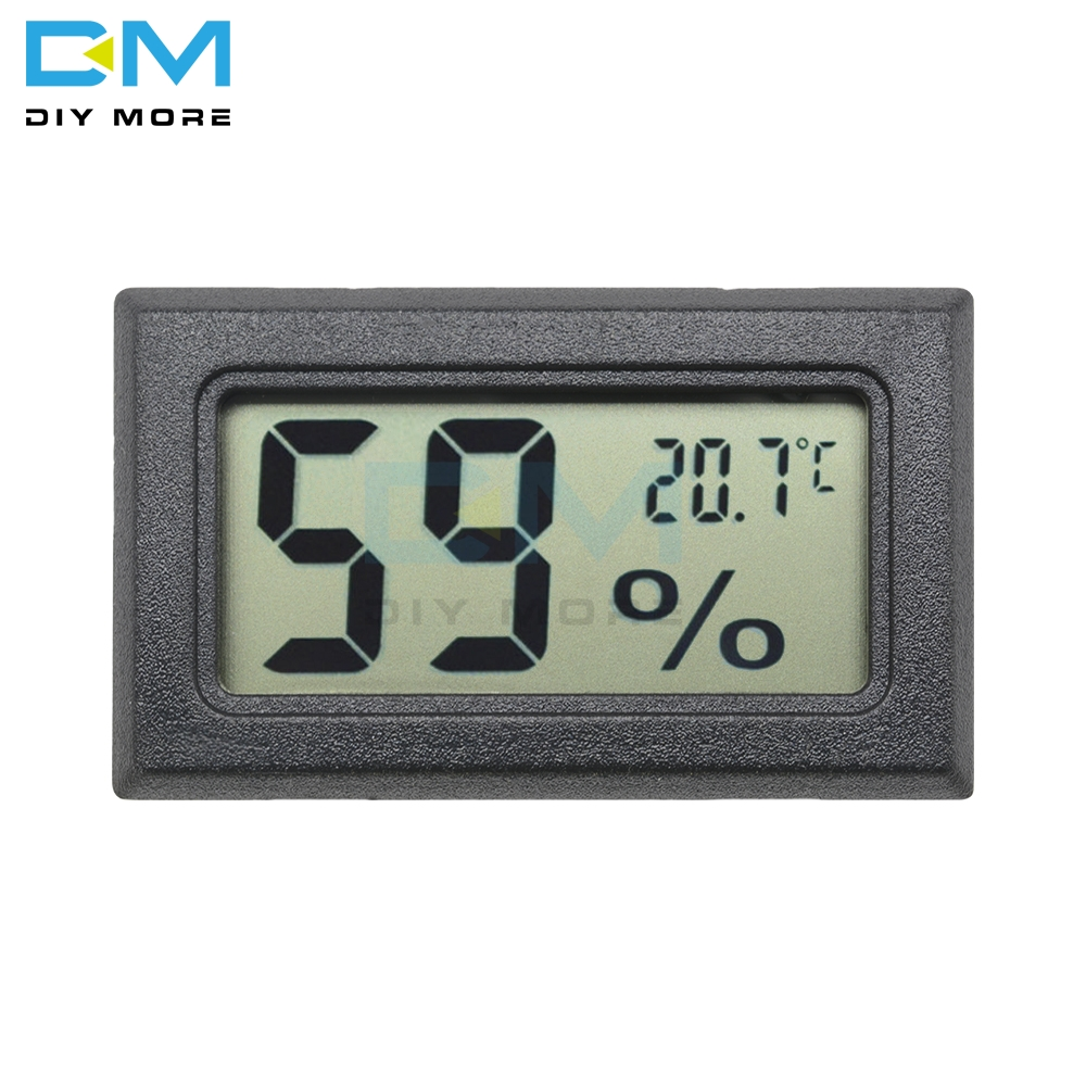 Mini Black Digital LCD Display Thermometer Hygrometer Temperature Indoor Convenient Temperature Sensor Humidity Meter Instrument