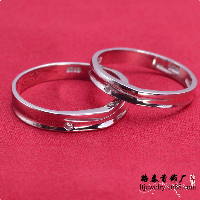 LTR192 Fashion Silver elegant couple rings 925 silver zircon wedding rings