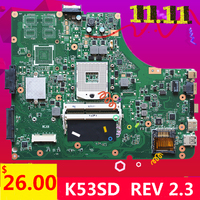 לasus K53E P53E X53E A53E K53E K53SD REV 2.3 לוח האם לוח האם נבדק מושלם