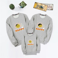 Family Matching Outfits Children Kids Autumn Winter Hoodies Family Shirts Mother Daughter Matching clothe Sweaters