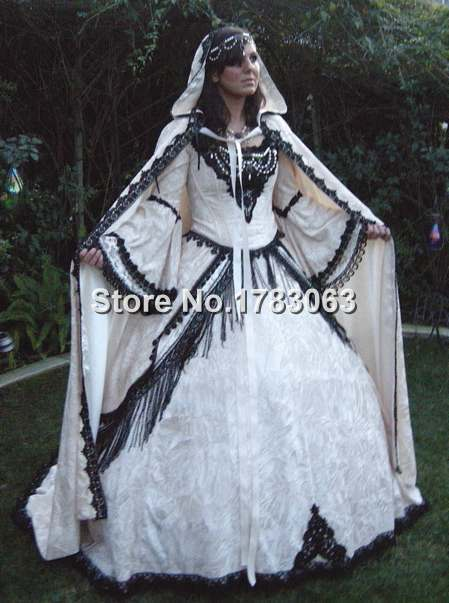 White Fantasy Renaissance Medieval Fairy Set with Cape/Southern Belle Gown Reenactment Theater Costume