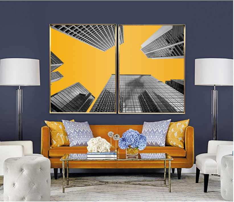 Black Yellow Background Architectur Decorative Paintings Wall Art Print Picture Canvas Painting Poster For Living Room No Framed Painting Poster Print Pictures Canvasdecorative Painting Aliexpress