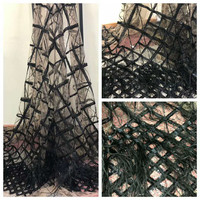 Nigerian lace fabric 2018 high quality Nigerian French tulle lace fabric with feather guipure African lace fabrics HX828 1