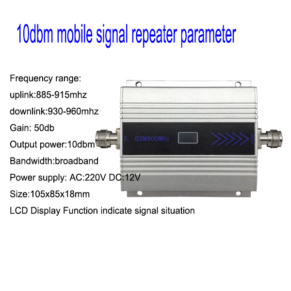 LCD Display Family Mini GSM 900MHz Mobile Phone Signal Booster GSM Signal Repeater Cell Phone Amplifier + Power Adapter