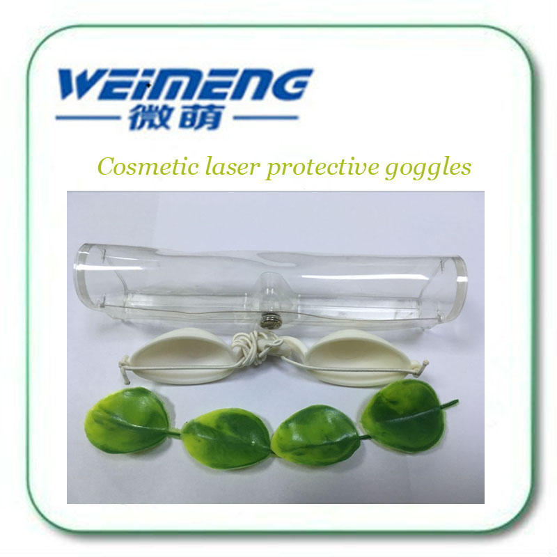 White color Cosmetic laser protective goggles E light photorejuvenation OPT hair eyebrow blackdoll guests with eyeshade