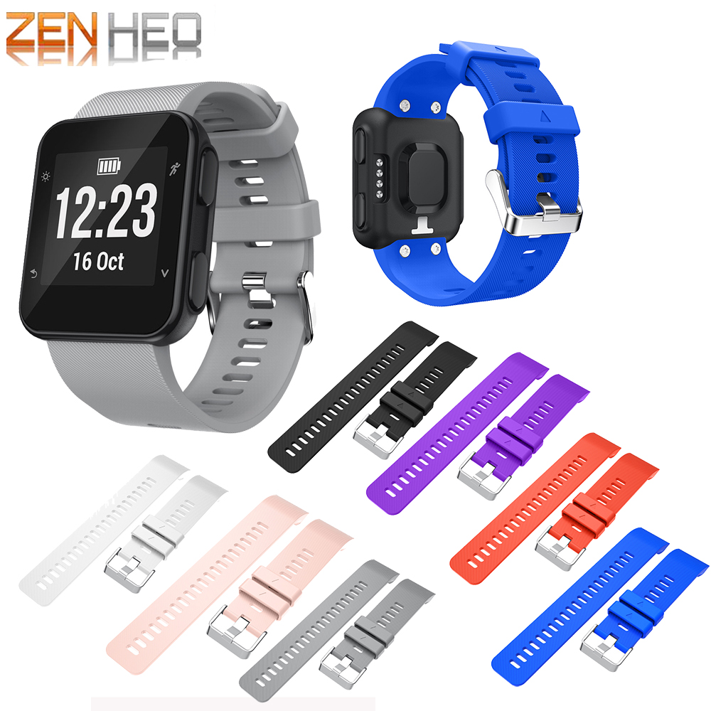 Bracelet Wristband Watch-Strap Garmin Forerunner 35-Strap-Replacement Soft-Silicone