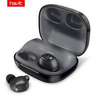 HAVIT Bluetooth наушники V5.0 TWS мини беспроводные наушники-вкладыши спортивные IPX5 водонепроницаемые с 2200 мАч коробка перезаряжаемая гарнитура I93