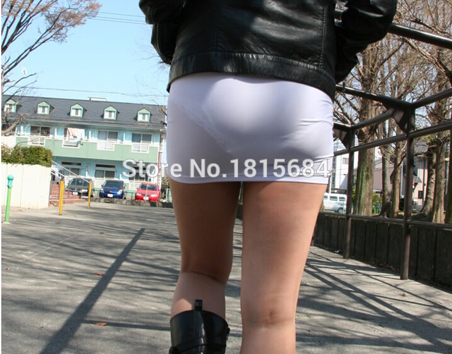 Japan Mini Pencil Skirt Sexy Pack Hip Stretch Cotton Tight -8129