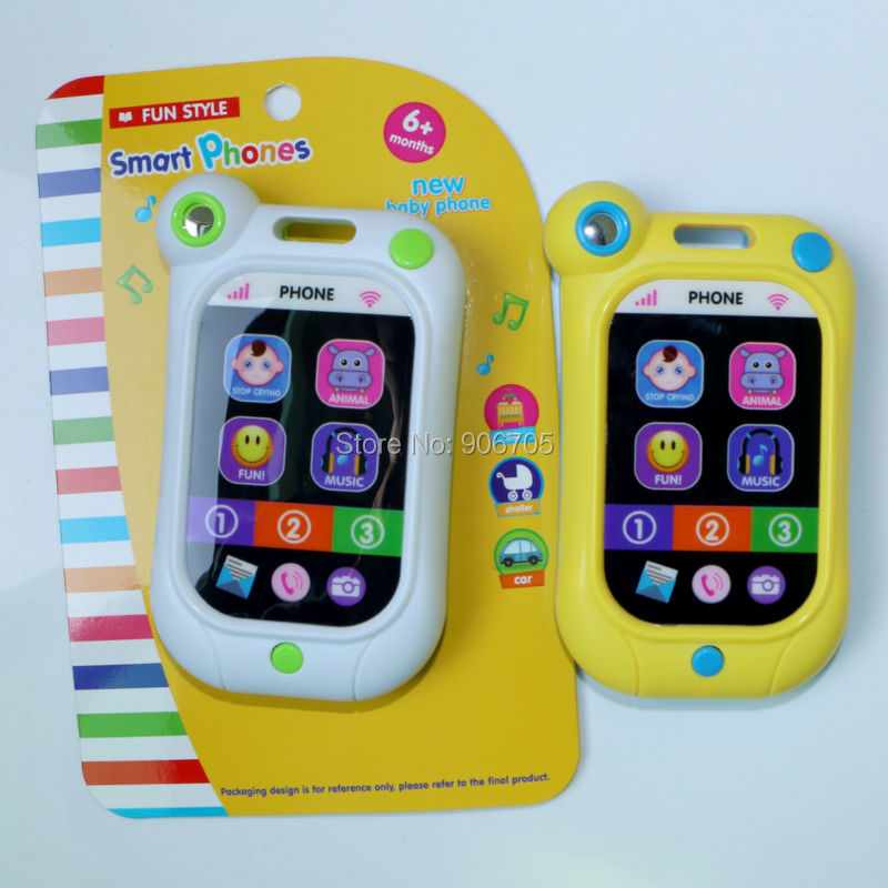 Smart toy phone Baby Simulator Music Phone Touch Screen Children Educational Learning Toy with Light